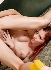 This fiery redhead needs to release some built up tension